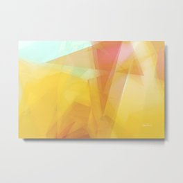 Sunny  Side Up abstract art Metal Print