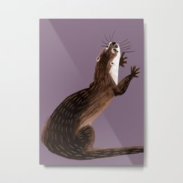 Asian small-clawed otter (Grapeade) Metal Print