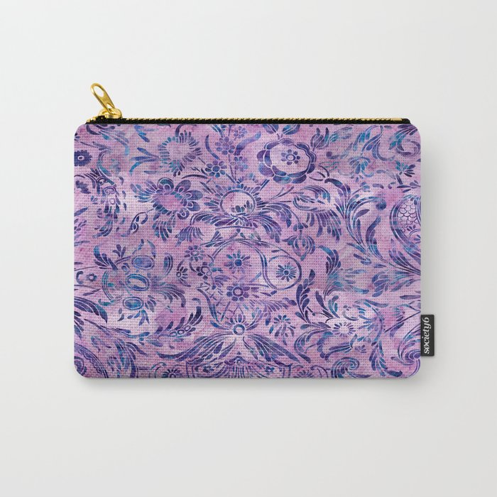 Watercolor Damask Pattern 02 Carry-All Pouch