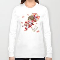 bee and puppycat Long Sleeve T-shirts featuring Bee and Puppycat by Artist Meli