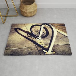 Bicycle Street Heart Rug