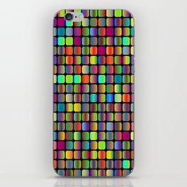 Colorful neon oval squares iPhone Skin