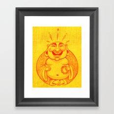 Laughter Brightens the Soul Framed Art Print