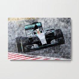 Lewis Hamilton 2015 Metal Print