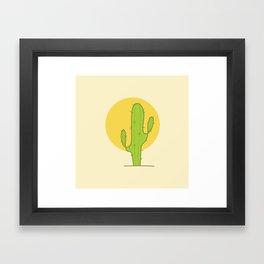 Desert Cactus Framed Art Print