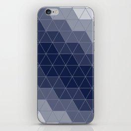 Indigo Navy Blue Triangles iPhone Skin