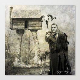 Dark Victorian Portrait Series: Baba Yaga Canvas Print