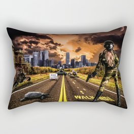 Future Girl in New York Rectangular Pillow