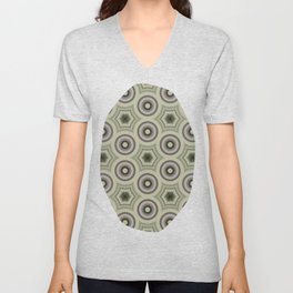 Fractal Cogs n Wheels in CMR03 Unisex V-Neck