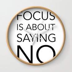 Focus is about.... Wall Clock