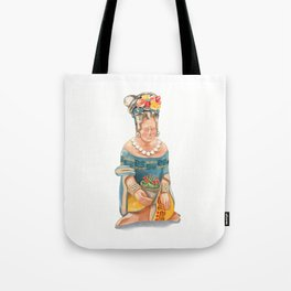 Mesoamerican Seated Woman Tote Bag