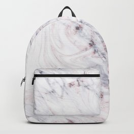 Touch of Rose White & Grey Marble Swirl Backpack