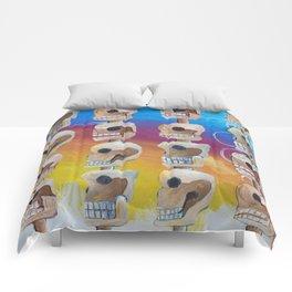 Untitled #98 Chichen Itza Skull Comforters