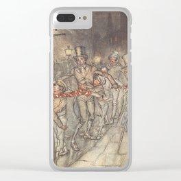 Arthur Rackham - Dickens' Christmas Carol (1915): Bob Cratchit in the Street Clear iPhone Case
