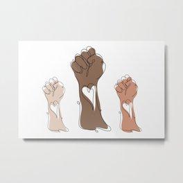 Human Hands Metal Print