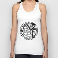 globe Tank Tops featuring Globe by Gallymogger Print