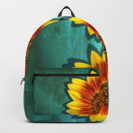 Sunflower Field Turquoise  Backpack