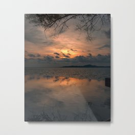 Sunset on the Gulf of Thailand Metal Print