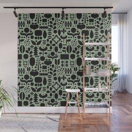 Organic motif pattern Wall Mural