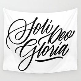 Soli Deo Gloria - Glory to God Alone Wall Tapestry