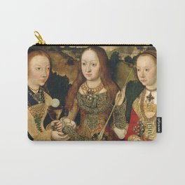 """Lucas Cranach the Elder """"Catherine altar, right wing Saints Barbara, Ursula and Margaret"""" Carry-All Pouch"""