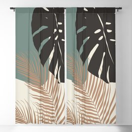 Minimal Monstera Palm Finesse #1 #tropical #decor #art #society6 Blackout Curtain