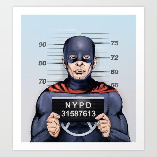 superhero in trouble Art Print