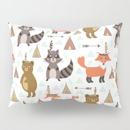 Bohemian orange brown forest animal arrows tribal pattern Pillow Sham
