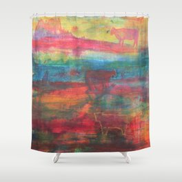 20 Cows For Lough Oughter Shower Curtain