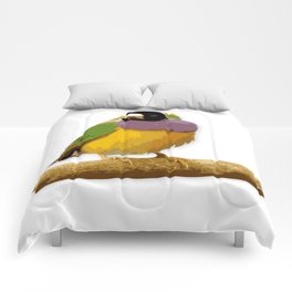 Colorful little birds. Comforters