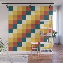 My Honey Pot - Pixel Pattern in yellow tint colors Wall Mural