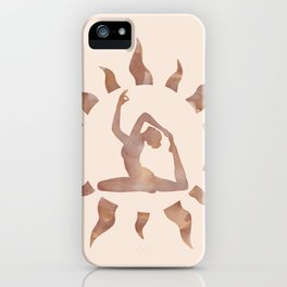 King Pigeon Yoga Pose iPhone Case