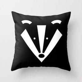 Brock badger Throw Pillow