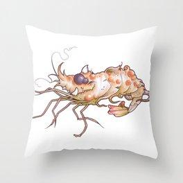 Mutant Shrimp Throw Pillow