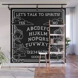 Let's Talk To Spirits | Black White Summoning Board Game Wall Mural