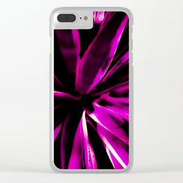 Vibrant Purple and Pink Clear iPhone Case