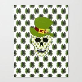 St Paddys Skull - St Patrick's Day Canvas Print