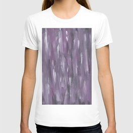 Touching Purple Black White Watercolor Abstract #1 #painting #decor #art #society6 T-shirt
