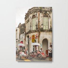 Trishaw Break II - George Town, Penang  Metal Print