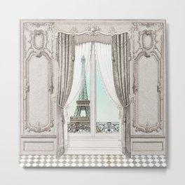 Eiffel Tower room with a view Metal Print