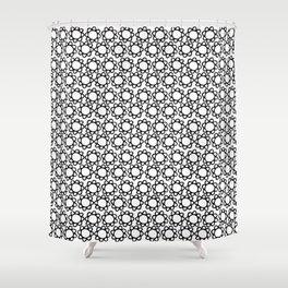 crochet flowers pattern Shower Curtain
