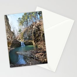 Alone in Secret Hollow with the Caves, Cascades, and Critters - Approaching the Falls Stationery Cards