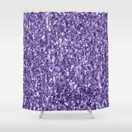 Ultra violet purple glitter sparkles Shower Curtain