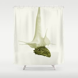 Monochrome - At the butterfly ball Shower Curtain