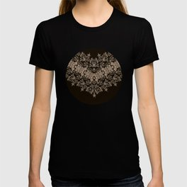 small sarasa floral on black T-shirt