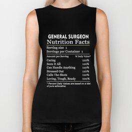 Surgeon T-Shirt General Surgeon Nutrition Facts Surgeon Gift Biker Tank