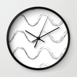 Slither Black #480 Wall Clock