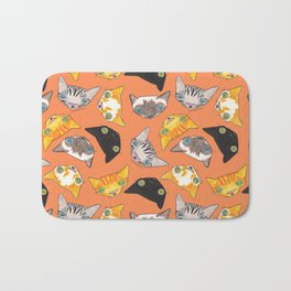 """Oro?"" Cats-Salmon Color Bath Mat"