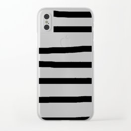 Simply Drawn Stripes in Midnight Black Clear iPhone Case