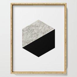 Hexa marble black Serving Tray